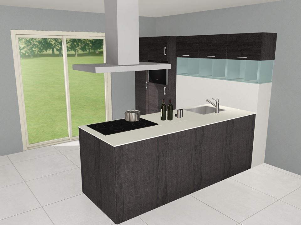 gratis 3d ontwerp nieuwe keuken
