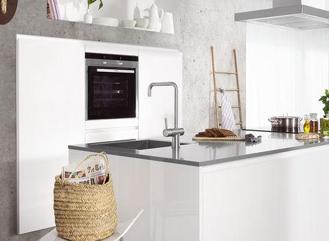 Hoogglans Witte Keuken : Koel hoogglans witte keuken van nolte eetkamer ideeën