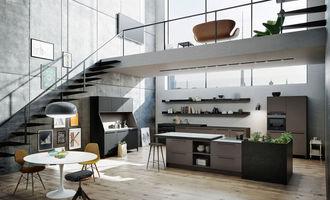 Keukens zonder bovenkastjes