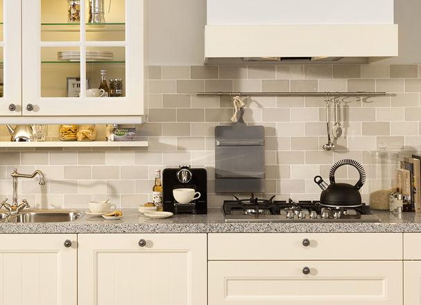 Landelijke keuken granieten werkblad