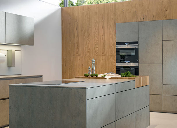 Keuken Met Beton : Essen met beton handgemaakte houten keukens van meubelmaker jp