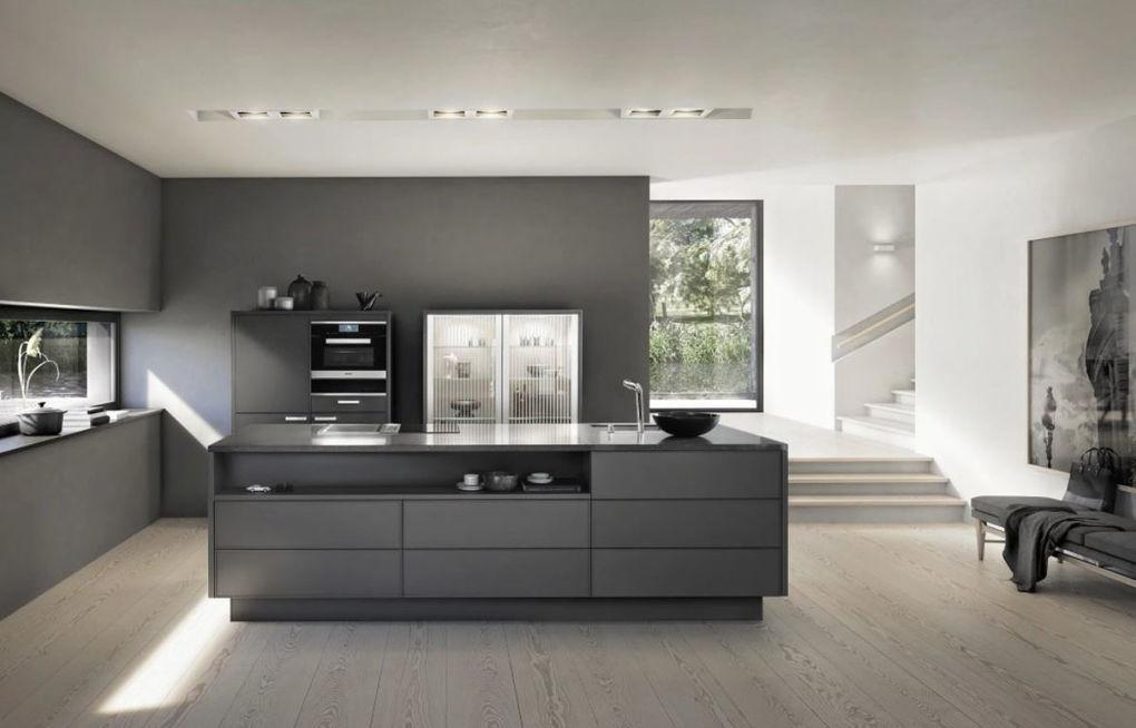 Zwarte en witte keuken