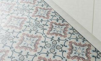 Keukenvloer met patroon