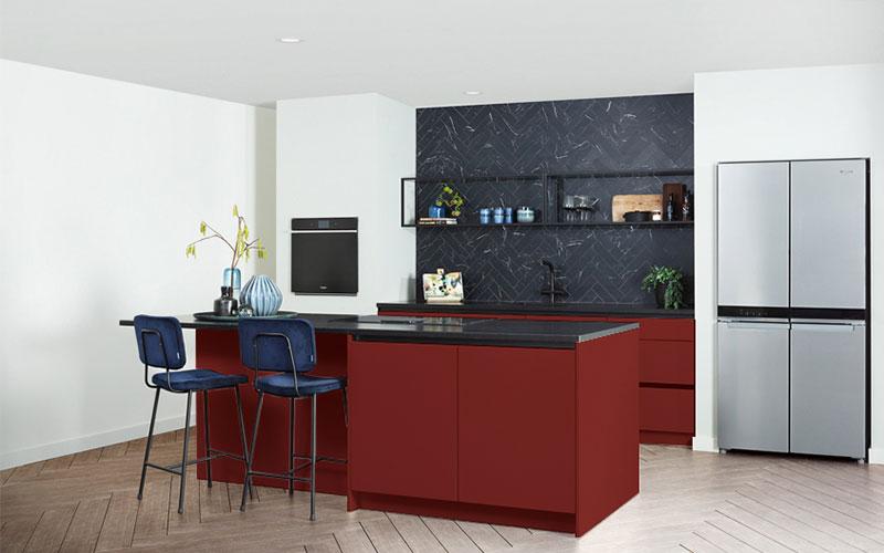 Donkerrode keuken